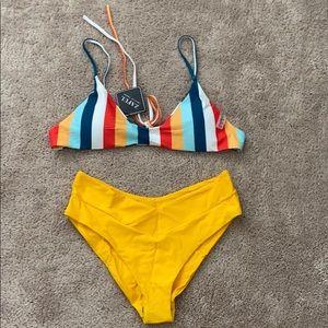 Fun striped bikini